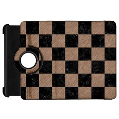 Square1 Black Marble & Brown Colored Pencil Kindle Fire Hd Flip 360 Case by trendistuff