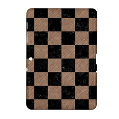Square1 Black Marble & Brown Colored Pencil Samsung Galaxy Tab 2 (10 1 ) P5100 Hardshell Case  by trendistuff