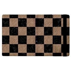 Square1 Black Marble & Brown Colored Pencil Apple Ipad Pro 9 7   Flip Case by trendistuff