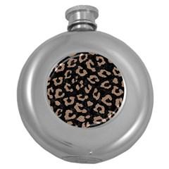 Skin5 Black Marble & Brown Colored Pencil (r) Hip Flask (5 Oz) by trendistuff