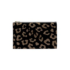 Skin5 Black Marble & Brown Colored Pencil (r) Cosmetic Bag (small)