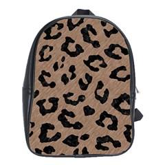 Skin5 Black Marble & Brown Colored Pencil School Bag (xl) by trendistuff