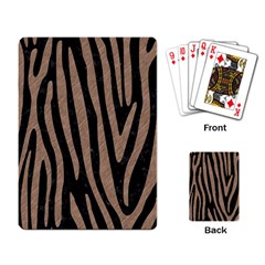 Skin4 Black Marble & Brown Colored Pencil (r) Playing Cards Single Design by trendistuff