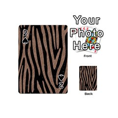Skin4 Black Marble & Brown Colored Pencil (r) Playing Cards 54 (mini) by trendistuff