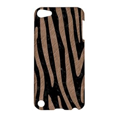 Skin4 Black Marble & Brown Colored Pencil (r) Apple Ipod Touch 5 Hardshell Case by trendistuff