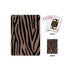Skin4 Black Marble & Brown Colored Pencil Playing Cards (mini) by trendistuff