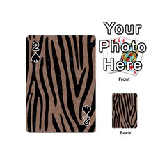 Skin4 Black Marble & Brown Colored Pencil Playing Cards 54 (mini) by trendistuff