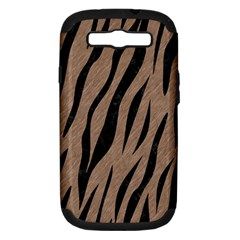 Skin3 Black Marble & Brown Colored Pencil (r) Samsung Galaxy S Iii Hardshell Case (pc+silicone) by trendistuff