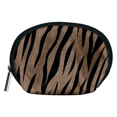 Skin3 Black Marble & Brown Colored Pencil (r) Accessory Pouch (medium) by trendistuff