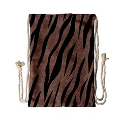 Skin3 Black Marble & Brown Colored Pencil (r) Drawstring Bag (small) by trendistuff