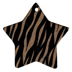 Skin3 Black Marble & Brown Colored Pencil Star Ornament (two Sides) by trendistuff