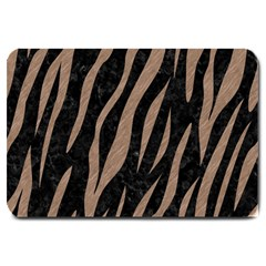 Skin3 Black Marble & Brown Colored Pencil Large Doormat by trendistuff