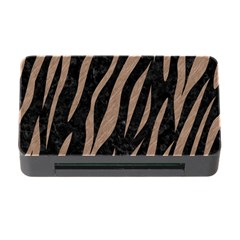 Skin3 Black Marble & Brown Colored Pencil Memory Card Reader With Cf by trendistuff