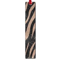 Skin3 Black Marble & Brown Colored Pencil Large Book Mark by trendistuff