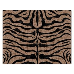 Skin2 Black Marble & Brown Colored Pencil (r) Jigsaw Puzzle (rectangular) by trendistuff