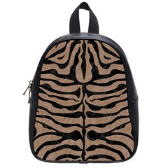 Skin2 Black Marble & Brown Colored Pencil (r) School Bag (small) by trendistuff