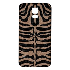 Skin2 Black Marble & Brown Colored Pencil Samsung Galaxy S5 Back Case (white) by trendistuff