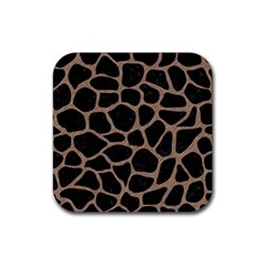 Skin1 Black Marble & Brown Colored Pencil (r) Rubber Square Coaster (4 Pack) by trendistuff