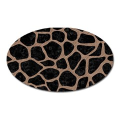 Skin1 Black Marble & Brown Colored Pencil (r) Magnet (oval) by trendistuff