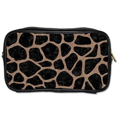 Skin1 Black Marble & Brown Colored Pencil (r) Toiletries Bag (two Sides) by trendistuff