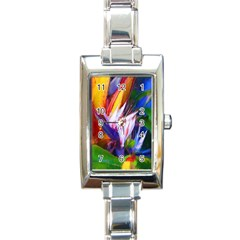 Palms02 Rectangle Italian Charm Watch by psweetsdesign