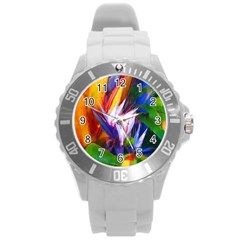 Palms02 Round Plastic Sport Watch (l)