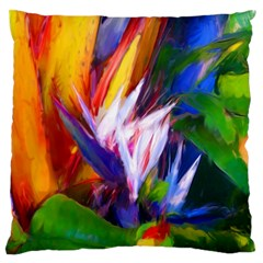 Palms02 Large Flano Cushion Case (two Sides) by psweetsdesign