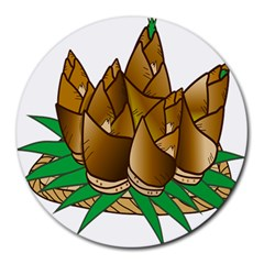 Young Bamboo Round Mousepads by Mariart
