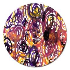 Autumnn Rainbow Magnet 5  (round) by Mariart