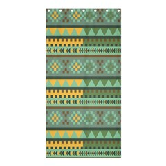 Bezold Effect Traditional Medium Dimensional Symmetrical Different Similar Shapes Triangle Green Yel Shower Curtain 36  X 72  (stall)  by Mariart