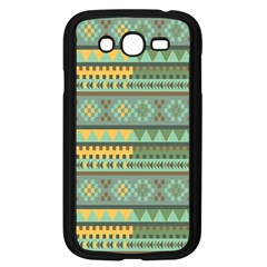 Bezold Effect Traditional Medium Dimensional Symmetrical Different Similar Shapes Triangle Green Yel Samsung Galaxy Grand Duos I9082 Case (black)