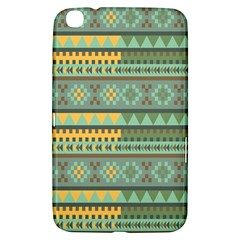 Bezold Effect Traditional Medium Dimensional Symmetrical Different Similar Shapes Triangle Green Yel Samsung Galaxy Tab 3 (8 ) T3100 Hardshell Case  by Mariart