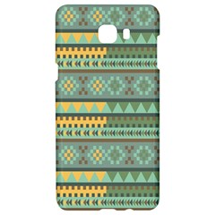 Bezold Effect Traditional Medium Dimensional Symmetrical Different Similar Shapes Triangle Green Yel Samsung C9 Pro Hardshell Case  by Mariart