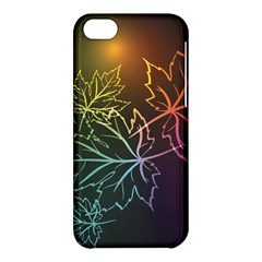 Beautiful Maple Leaf Neon Lights Leaves Marijuana Apple Iphone 5c Hardshell Case by Mariart