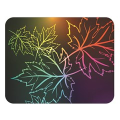 Beautiful Maple Leaf Neon Lights Leaves Marijuana Double Sided Flano Blanket (large)  by Mariart