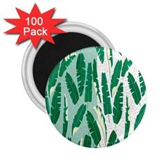 Banana Leaf Green Polka Dots 2 25  Magnets (100 Pack)  by Mariart
