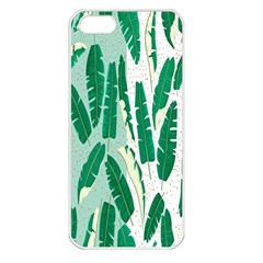 Banana Leaf Green Polka Dots Apple Iphone 5 Seamless Case (white) by Mariart