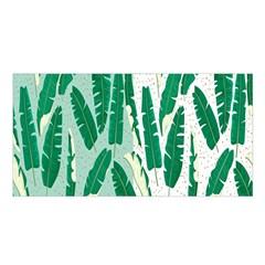 Banana Leaf Green Polka Dots Satin Shawl by Mariart