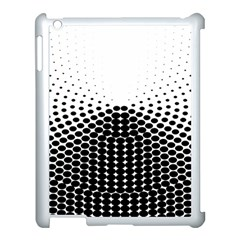 Black White Polkadots Line Polka Dots Apple Ipad 3/4 Case (white) by Mariart