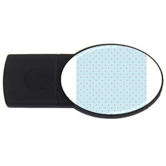 Blue Red Circle Polka Usb Flash Drive Oval (2 Gb) by Mariart