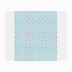 Blue Red Circle Polka Small Glasses Cloth (2-Side) by Mariart