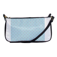 Blue Red Circle Polka Shoulder Clutch Bags by Mariart