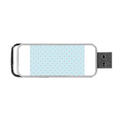Blue Red Circle Polka Portable Usb Flash (two Sides) by Mariart