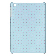 Blue Red Circle Polka Apple Ipad Mini Hardshell Case by Mariart
