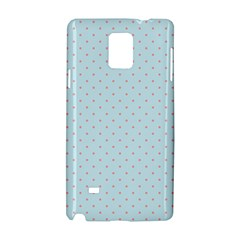 Blue Red Circle Polka Samsung Galaxy Note 4 Hardshell Case by Mariart