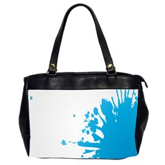 Blue Stain Spot Paint Office Handbags (2 Sides)  by Mariart