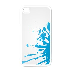 Blue Stain Spot Paint Apple Iphone 4 Case (white) by Mariart