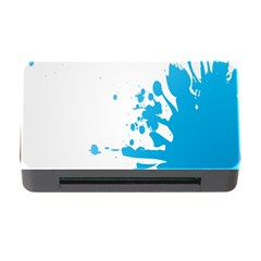 Blue Stain Spot Paint Memory Card Reader With Cf by Mariart