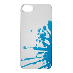Blue Stain Spot Paint Apple Iphone 5s/ Se Hardshell Case by Mariart