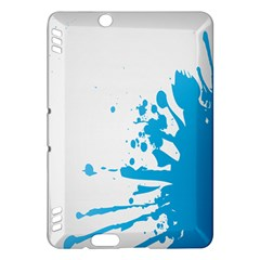 Blue Stain Spot Paint Kindle Fire Hdx Hardshell Case by Mariart